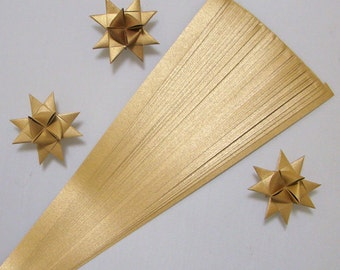 Metallic Gold Paper Strips for making Moravian German Froebel Stars - various sizes (50 strips per pack)