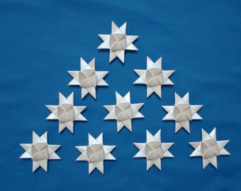 Moravian Stars (10): Pearlescent White, 2 inches