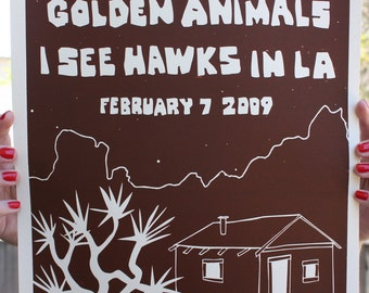 "Screen Print Poster 12"" x 18"" Pioneertown, Ca. Pappy and Harriets"
