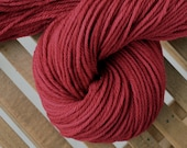 Hand dyed worsted weight yarn, 100% Superwash Merino Wool, pink red - Cherry cola