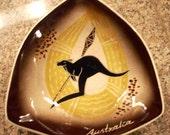 Australia Souvenir Ashtray Kangaroo Midcentury Design
