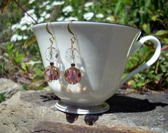 Wedding Earrings Crystals Vintage Beads