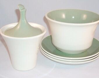 Harkerware Pottery Green Olympic Lot