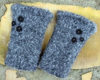 Wool Felted Fingerless Hand Warmers