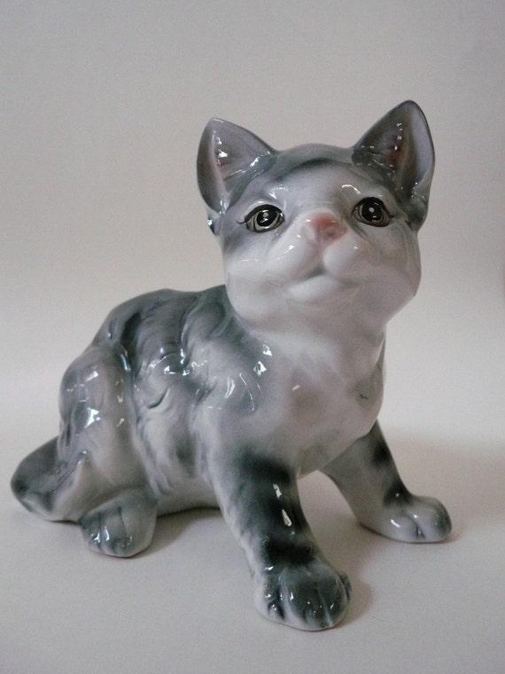 Vintage 1950's Ceramic Kitten Planter/Vase