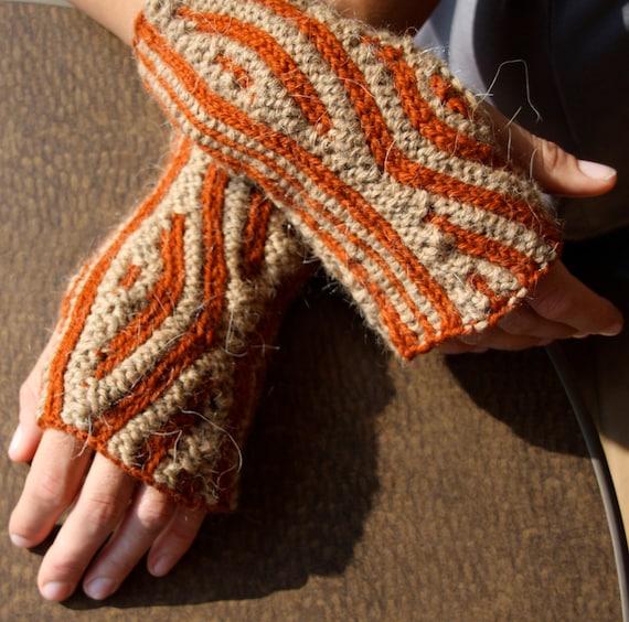 Knitting Pattern Ribbed Fingerless Gloves : Knitting Pattern for Ribbed Fingerless Mittens as PDF file