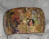 BUTTERFLY BEAUTY One Of A Kind embellished wood bangle