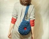 encephalus blaveus crochet  blue brain tote bag