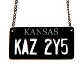 Supernatural Impala License Plate Necklace