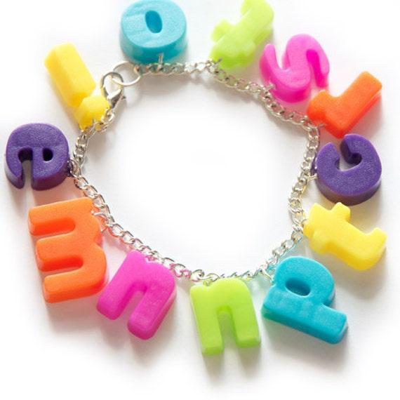Alphabet Charm Bracelet (Custom letters or name)