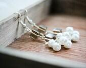 White 'berry' bead earrings