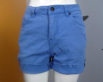 Cornflower Blue Colored Denim Cut Offs / Shorts