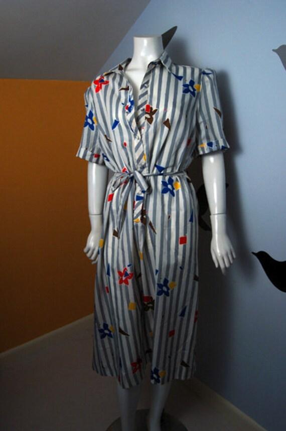 Vintage LANVIN 80s Short Sleeved Dress - RESERVED for 1Gem