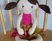 Molly Mae---Handmade doll