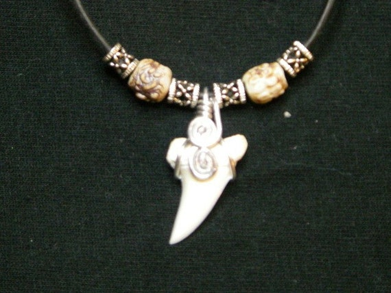 recent mako shark tooth necklace