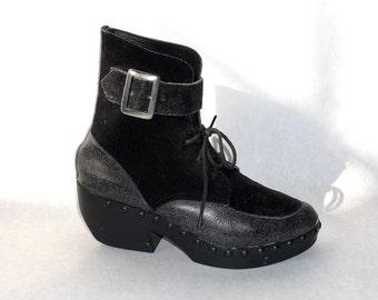 vtg avant garde clog boot  size 7 71/2 8