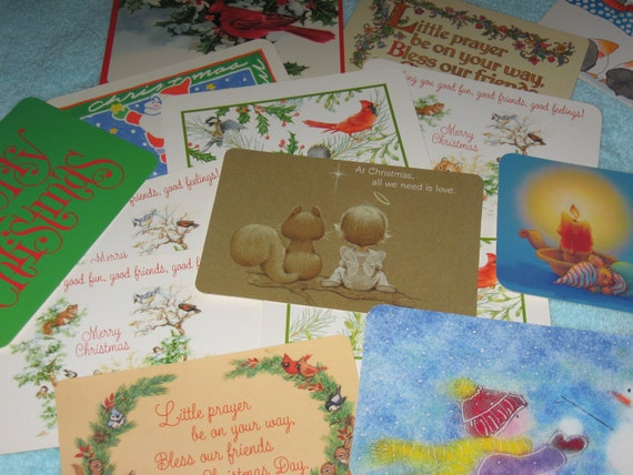 15 Vintage Unused Hallmark Christmas Postcards, lot 137