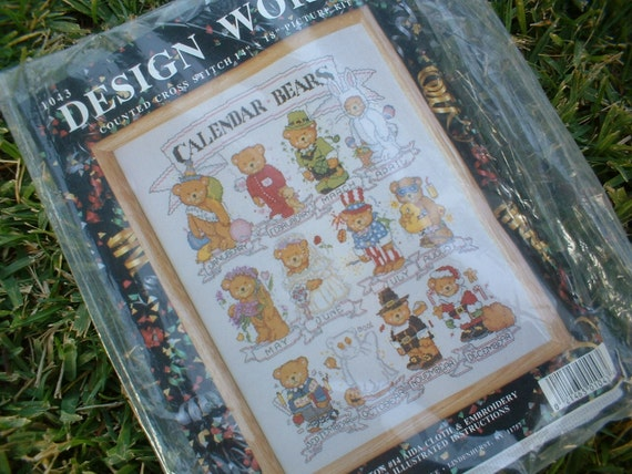 Calendar Bears Cross Stitch Kit in Unopened Original Packaging