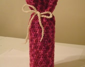 Pink Mix Wine Bottle Cozy, Free US Shipping