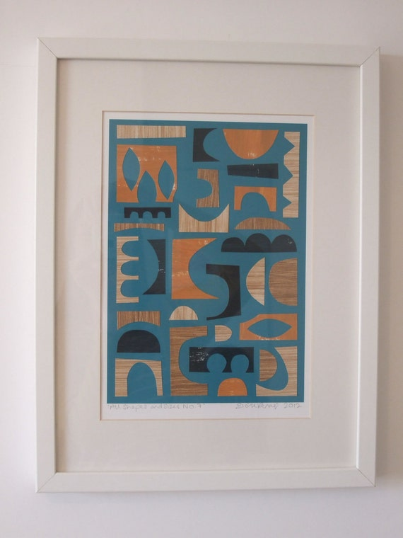 All Shapes And Sizes No7, ORIGINAL paper collage