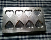 Vintage industrial heart chocolate mold