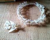 Antique wax orange blossoms bridal wedding crown 1920s 1930s