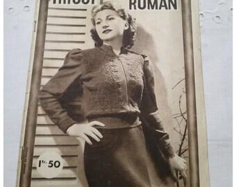 French Vintage knitting pattern 1939