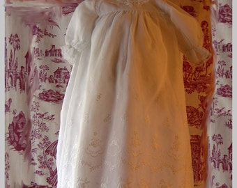 Vintage French Christening gown