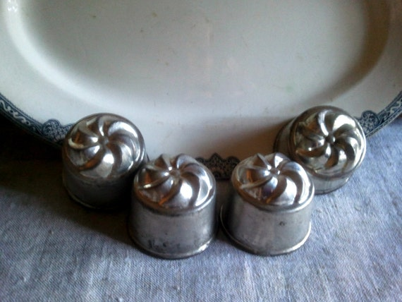 Vintage French  jello molds