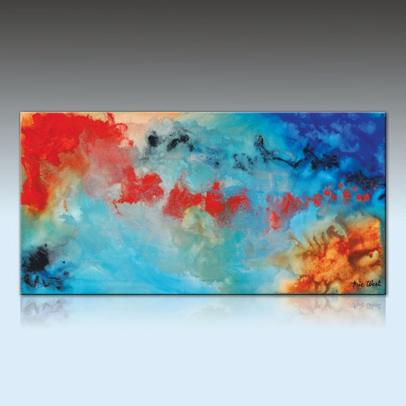 Painting by Brie West 20 x 40 ODYSSEY Original Contemporary Abstract Painting