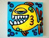 "Original Painting - ""Crazy Fishy"""