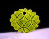 Green Faux Ceramic Polymer Clay Pendant