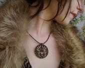 FINAL SALE OOAK Woodburned Antler Shaman Necklace