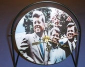 The Kennedy's Recycled CD Clock Art