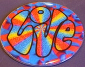 60's Love Recycled CD Wall/ Magnet Art
