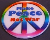 Make Peace Recycled CD Wall/ Magnet Art