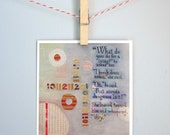 """Card celebrating individuality, office humor, work-life issues, """"A living"""""""