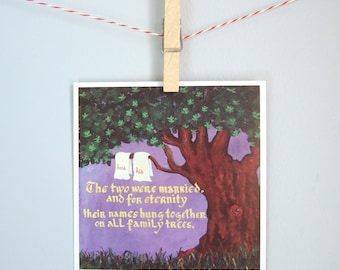 """Wedding, anniversary, engagement, love card, """"His and hers"""""""