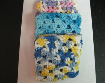 Set of Three Wash Cloth or Dish Cloth