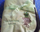 Personalized Minky Baby Security Blanket