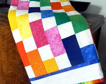 Colorful Brick Baby Quilt