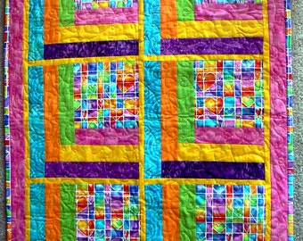 Custom item - Bright Colorful Baby Stroller Quilt