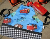 Disneys Cars, Lightening McQueen Childs Apron, Personalization is Available for addtional charge