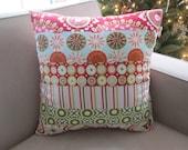 SALE- 40% OFF-Kumari Holiday Christmas Pillow- 20x20 inch- Patchwork Pillow