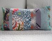 Boho Chic Patchwork Pillow-12x22 inch-Lumbar Pillow