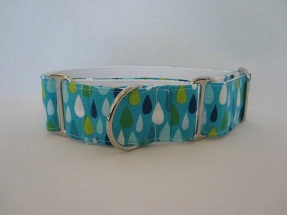 SALE- 40% OFF-Blue Raindrop Dog Collar