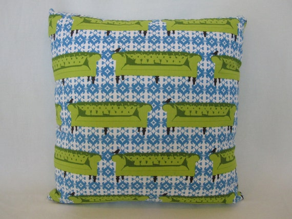 SALE- 40% OFF- Sofa Print Accent Pillow-16x16