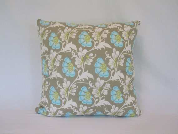 SALE- 40% OFF- Floral Pillow-18x18 inch. Amy Butler Daisy Chain