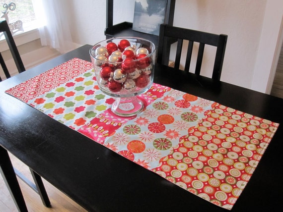 SALE-Kumari Holiday Table Runner-15.5x38 inches- Reversible