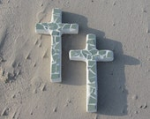 Coastal Sea Green Tile Wall Cross